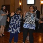 Guests take to the dance floor to enjoy the DJ and Music.