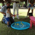 Members of the community participated in the fishing game that was set-up at our ADA25 celebration.