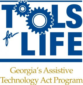 Tools for Life: Georgia's Assistive Technology Act Program - logo in blue and gold text