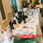 To raise funds for Walton Options, there was a Silent Auction throughout the night - these tables offer a variety of displays with the different packages that were on offer including wine, botwies, Christmas decorations and much more.