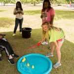 Members of theMembers of the community participated in the fishing game that was set-up at our ADA25 celebration. community participated in one of the games that were set-up at our ADA25 celebration.