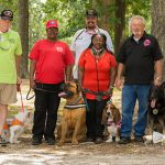 A group from K9 Veterans Solutions joined us at the Family Fun Day - both owners and service dogs.