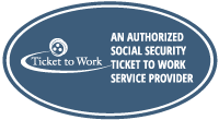Services Seal: Walton Options is an Authorized Social Security Ticket to Work Service Provider