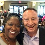 Selfie time! Our IL Advocacte Elizabeth grabs a selfie with the MVP Awards Guest Speaker, Jeff Eiseman, after the Celebration Luncheon.
