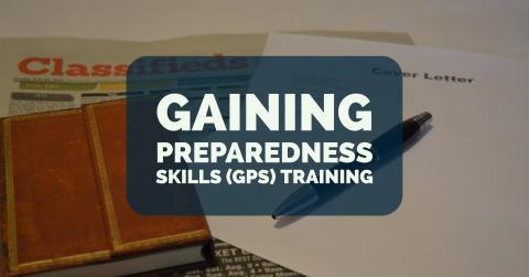 Photo Header: Gaining Preparedness Skills (GPS) Training, Winter 2017, January thru March